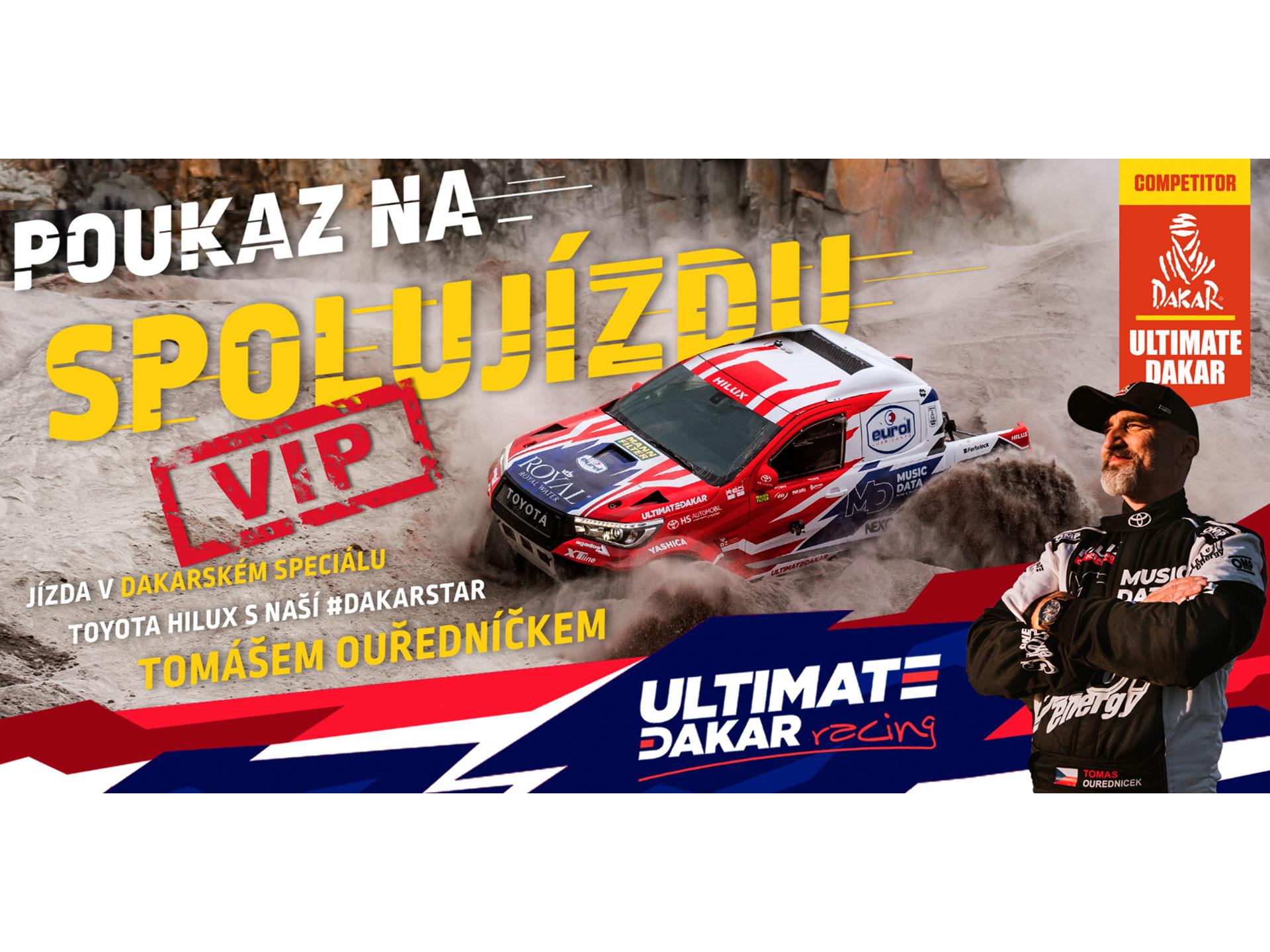 Obrázek galerie VIP POUKAZ na spolujízdu dakarským speciálem
