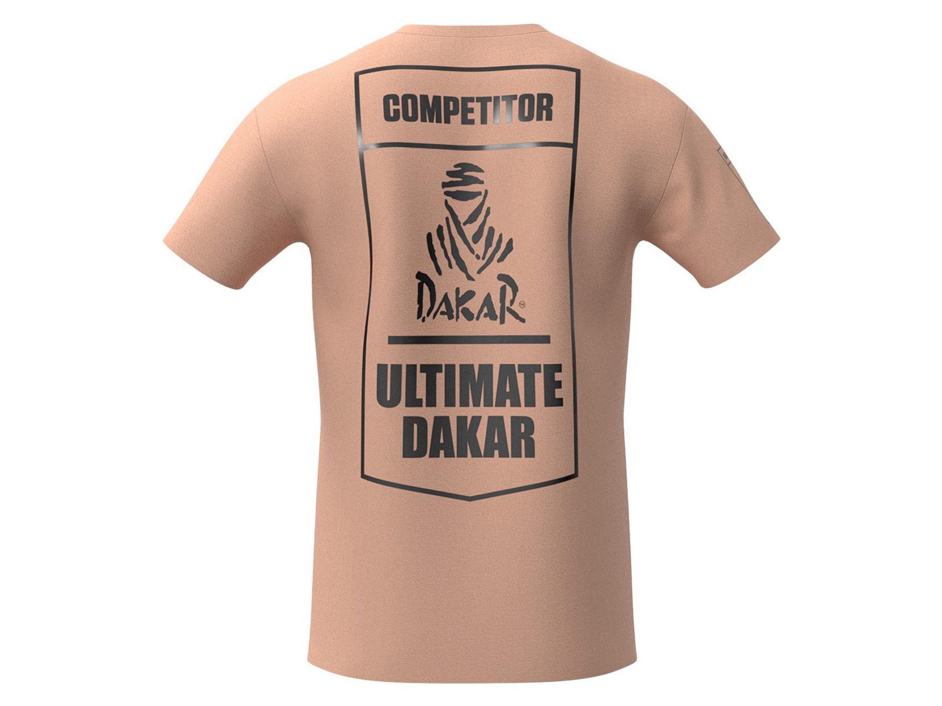 Obrázek galerie Tričko Ultimate Dakar Racing – Kolekce Double Red 2021 – Unisex písečná – L