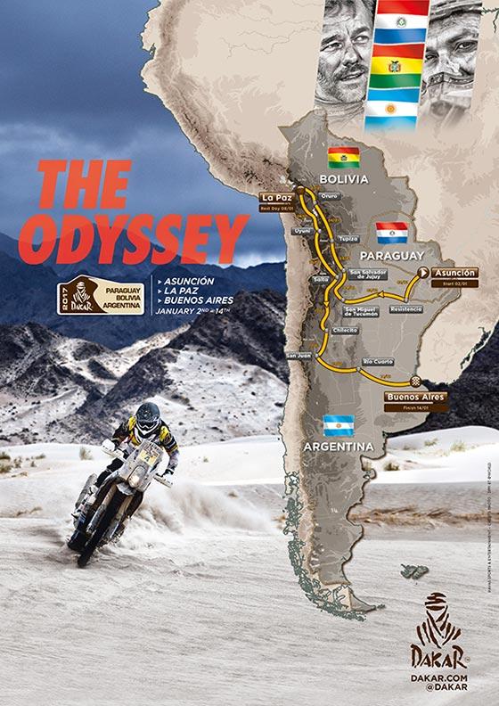 Trasa Dakaru 2017 představena v Praze