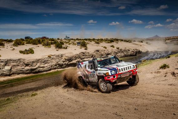 Dakarský speciál Hummer na Setkání mistrů autokrosu v Humpolci