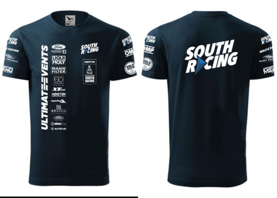 Týmová trička DAKAR s logem South Racing