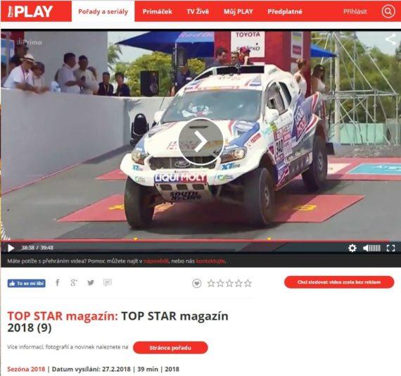 Tomáš Ouředníček v TOP STAR magazínu na TV Prima