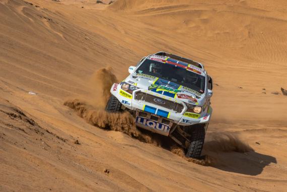 Obrázek galerie Jedenáctá etapa Rallye Dakar: Stíhací jízda zezadu, lehké zapadnutí v dunách a vyhlížení dakarského cíle