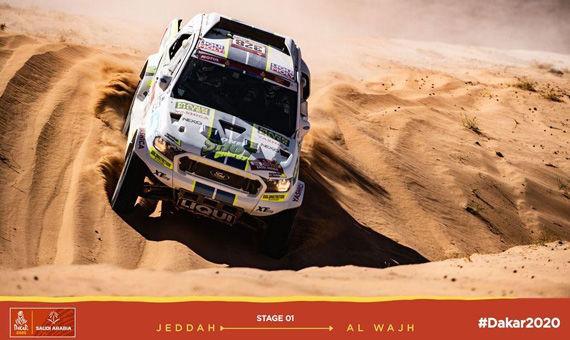 První etapa Dakaru 2020 posádky Ouředníček-Křípal: Bloudění, defekty i pokora