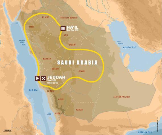 Obrázek galerie DAKAR 2021 – 100% Saúdská Arábie 100% nová trať