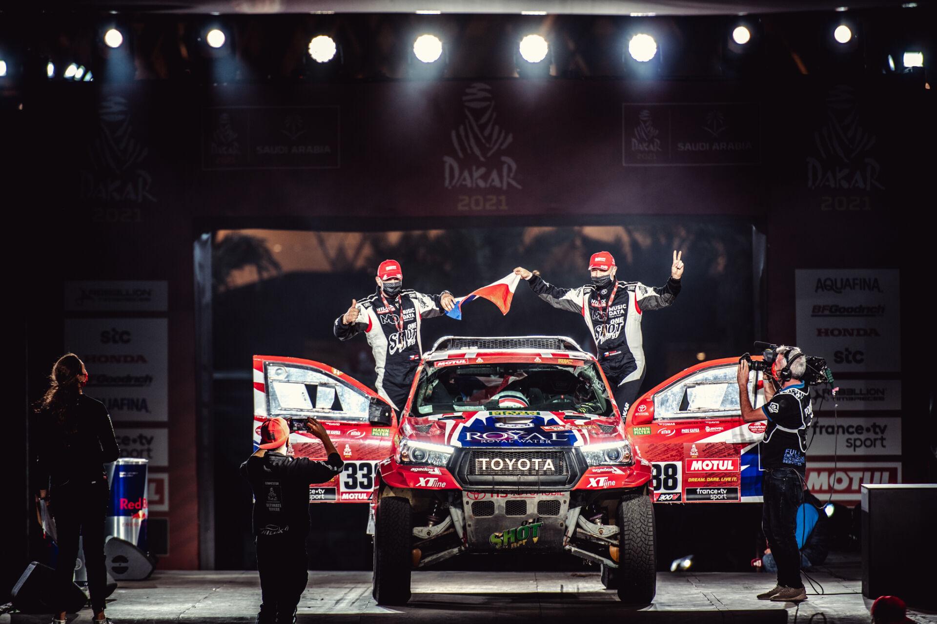 Tomáš s Davidem cílem ukončili svůj nejtěžší Dakar